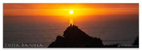 Comprar fotografía de Galicia Paisajes Gallegos Puesta de Sol en Cabo Home Decoración Naturaleza