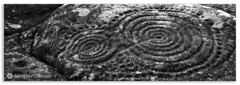 Comprar fotografía Galicia Petroglifo de Laxe Ribeira A Coruña Naturaleza Decoración Paisajes, Blanco y Negro