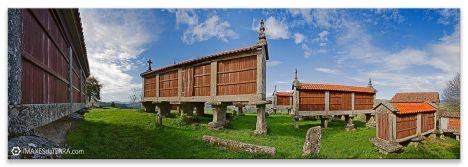 Hórreos  Eira  da Ermida  em Cerdedo, Comprar fotografía Galicia Filgueira Cerdedo Pontevedra Hórreos Decoración paisaxes natureza  Eira  da Hermida