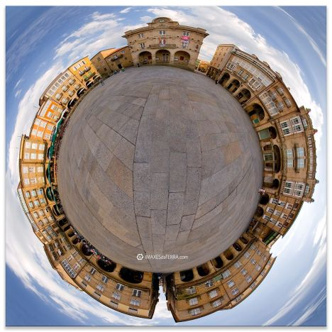 Ourense Plaza Maior 360º, Comprar fotografía de Galicia Ourense Plaza Maior Decoración Fotografía 360