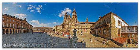 Comprar fotografía de Galicia Santiago de Compostela Catedral Peregrinos Plaza do Obradorio Camino de Santiago Decoración