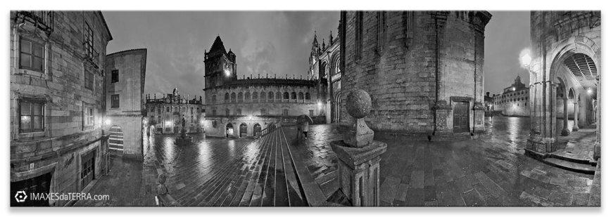 Praza das Praterías, Comprar fotografía de Galicia Santiago de Compostela Catedral Peregrinos Praza das Praterías Camino de Santiago Decoración
