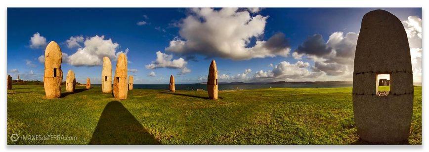 Menhires Coruña, Comprar fotografía de Galicia A Coruña Menhires Paisaje Naturaleza Decoración Panorámica