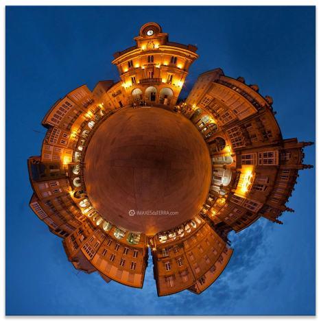 Ourense  máxico, Comprar fotografía de Galicia Ourense Praza  Maior noite Decoración Fotografa 360