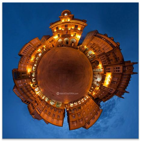 Comprar fotografía de Galicia Ourense Plaza Maior noche Decoración Fotografía 360