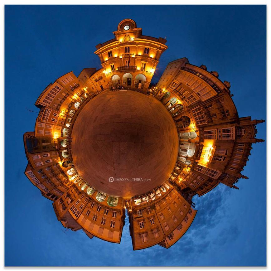 Ourense máxico, Comprar fotografía de Galicia Ourense Plaza Maior noche Decoración Fotografía 360