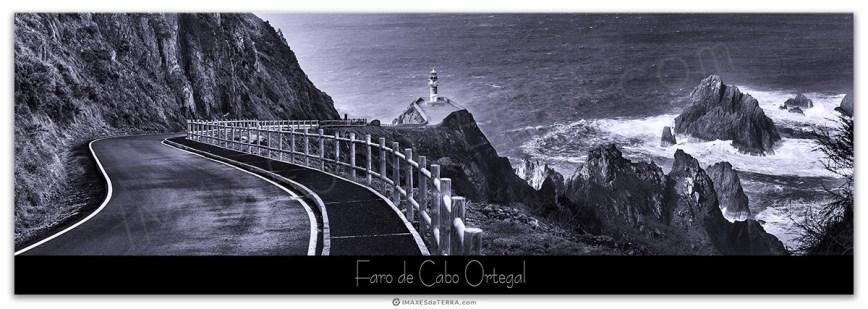 Faro de Cabo Ortegal b&n, Comprar fotografía Faros de Galicia Faro de Cabo Ortegal Naturaleza Decoración Paisajes, Blanco y Negro