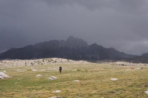 Mt Humphreys, Humphreys Basin, passing storm