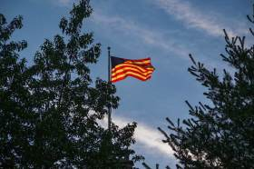 Saturday evening walk - Belvedere Castle Flag
