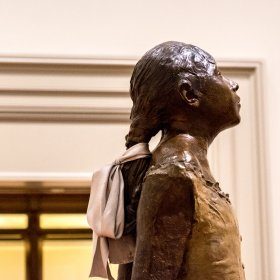 Saturday night at the Met- Detail, Degas little dancer