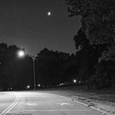 Saturday night - moon