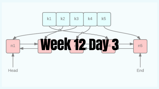 Week 12 Day 3 – Back at it Again with LRU Cache!