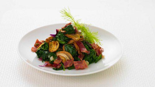 рецепт приготовления салат из шпината, имбиря и чеснока