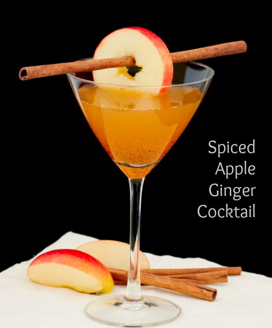 Spiced Apple Ginger Rum Cocktail