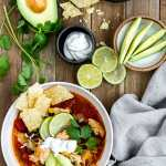 Bowl of Southwestern Chicken Soup