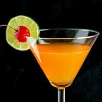 Tangerine Passionfruit Rum Martini