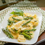 Tortellini with Asparagus, Basil & Parmesan