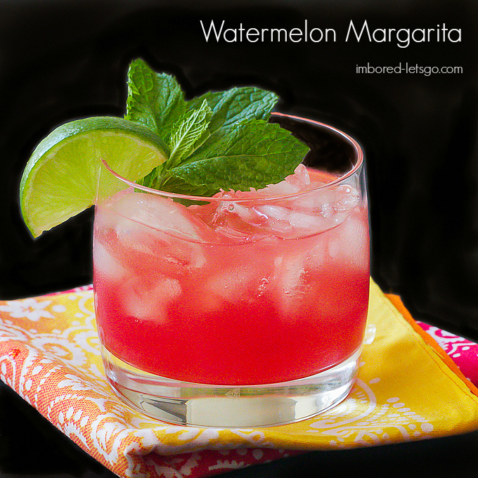 Watermelon Margarita with fresh watermelon juice