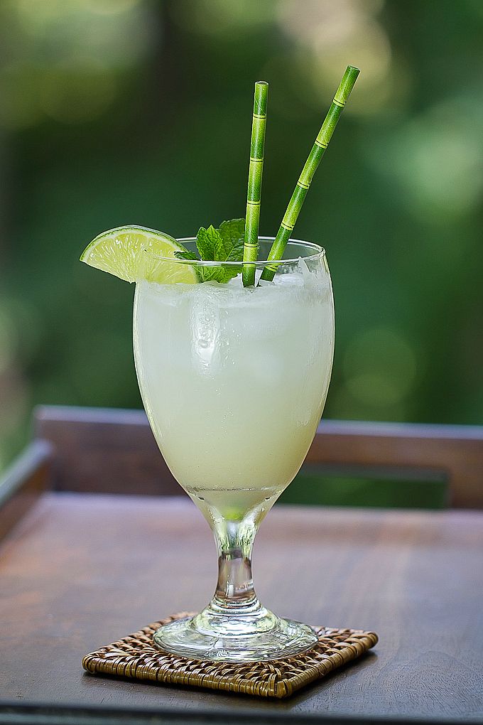 Coconut Pear Cocktail - Oh so refreshing!