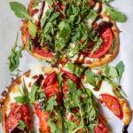 Tomato, Mozzarella & Arugula Naan Pizza