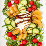 Watermelon Cucumber & Burrata Salad