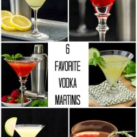 6 of my Favorite Vodka Martinis