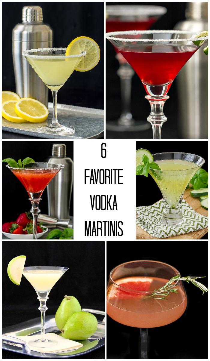 6 of my Favorite Vodka Martinis