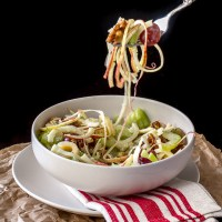 Waldorf Salad with Apples, Grapes, Celery & Candied Walnuts