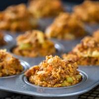 Chorizo Cornbread Stuffing Muffins