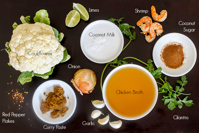 Thai Coconut Curry Cauliflower Soup Ingredients