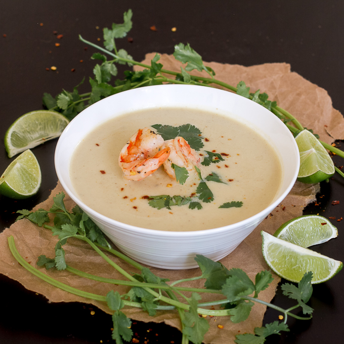 Thai Coconut Curry Cauliflower Soup