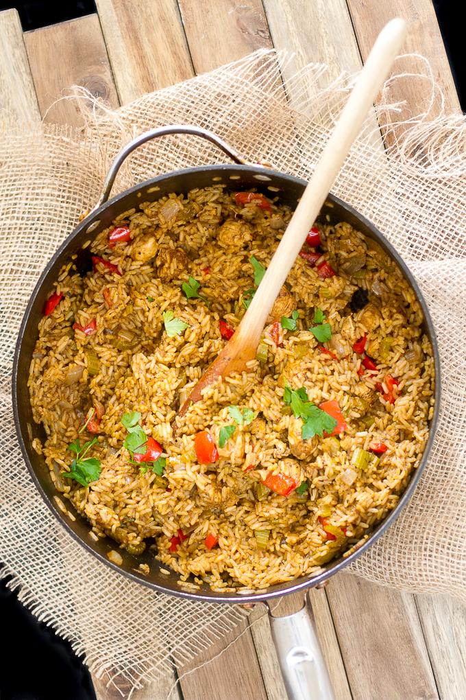 Cajun Chicken and Rice Skillet