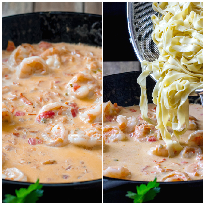 Fettuccine with Creamy Shrimp Sauce