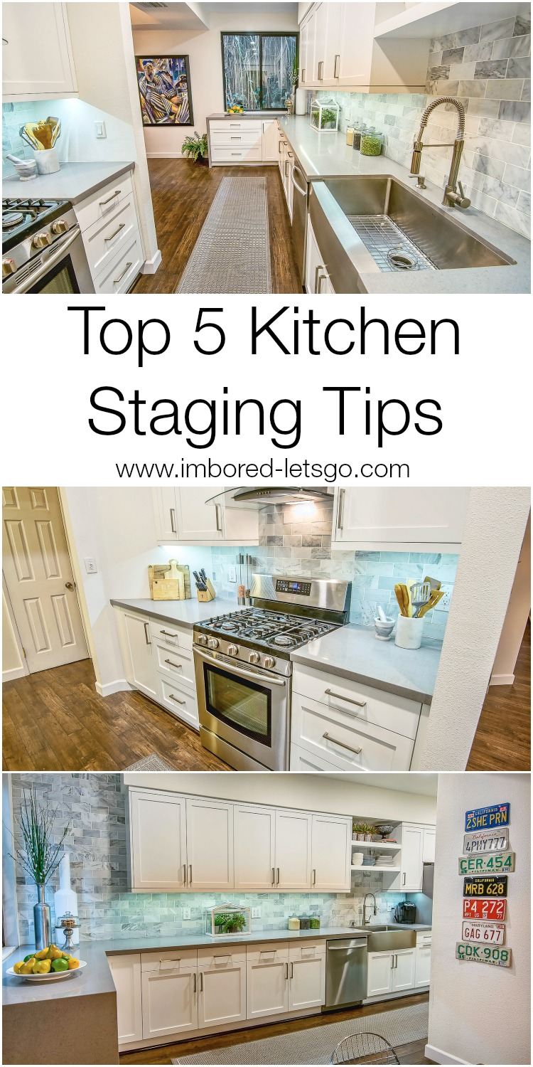 Top 5 Tips for Staging Your Kitchen to Sell.  Follow these tips and you'll be well on your way to SOLD!