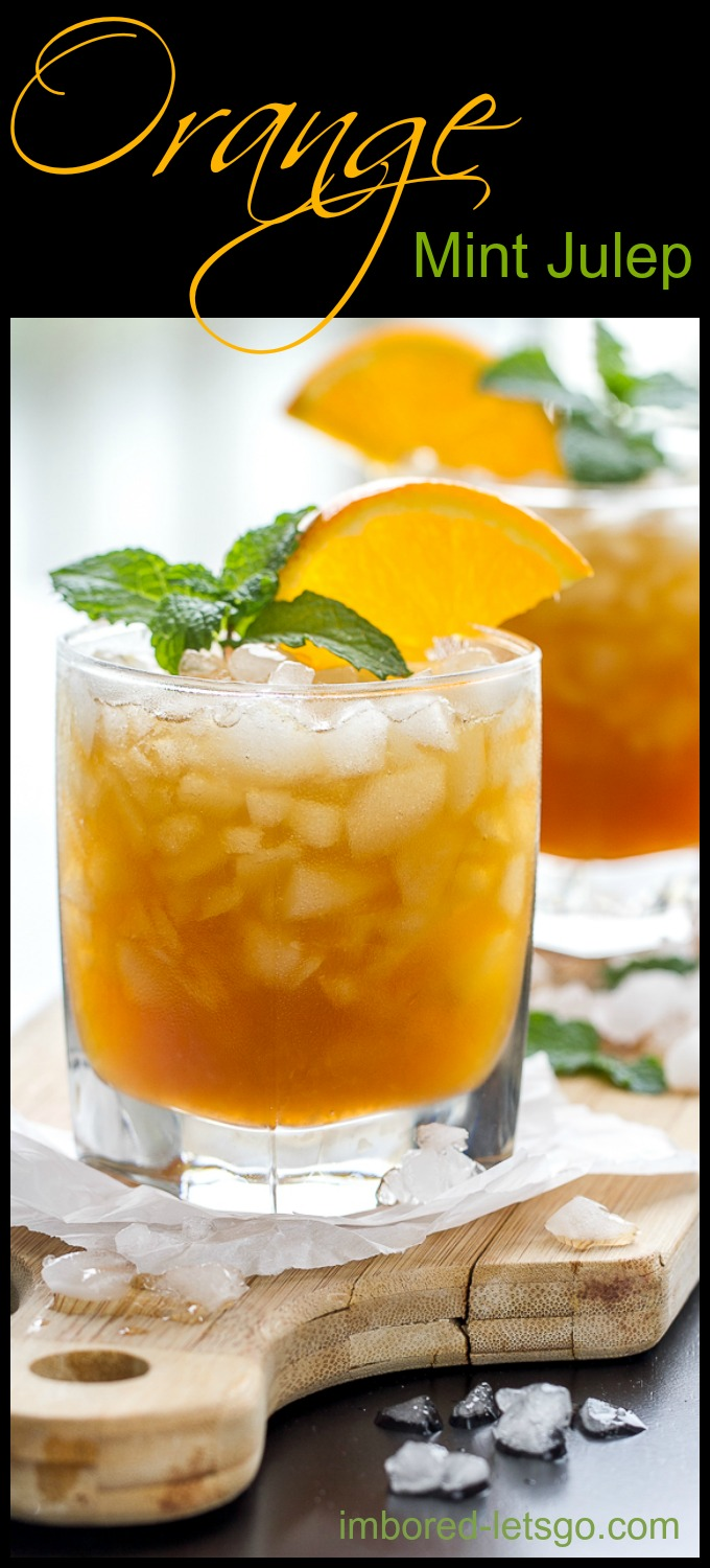 A delicious variation of the classic Mint Julep made with an orange-mint simple syrup