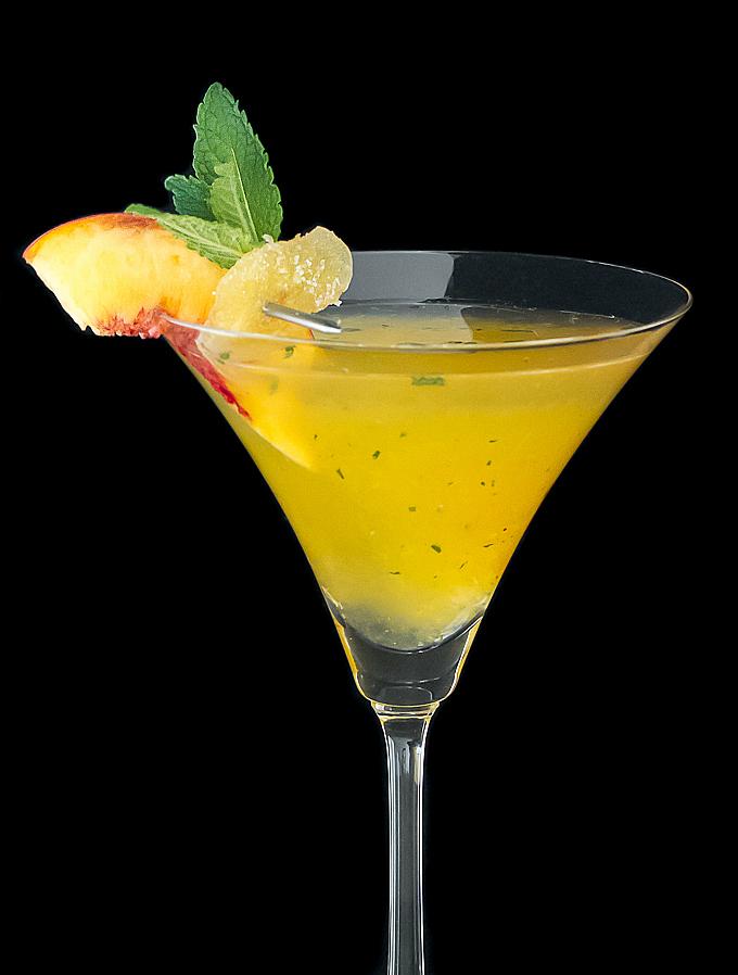 Peach Ginger Martini