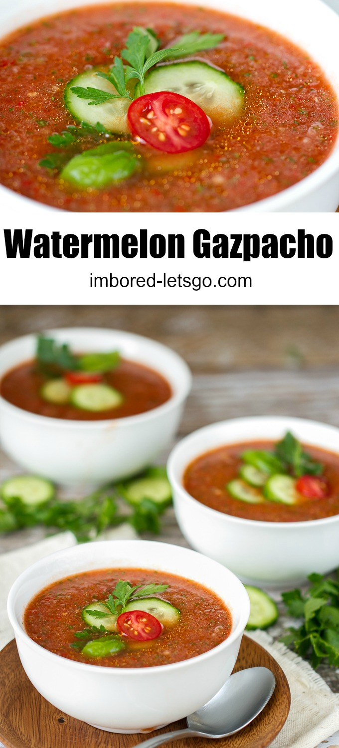 Watermelon Gazpacho - light, refreshing, a perfect soup for summer
