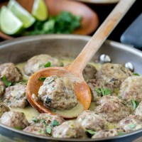 Green Curry Meatballs