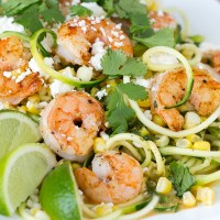Mexican Street Corn, Zucchini & Shrimp