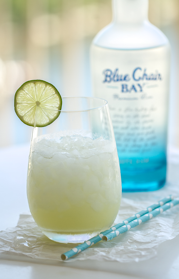 Rum Cucumber Cooler made with Blue Chair Bay Rum, fresh cucumber juice, and a delicious ginger-lime simple syrup.  Refreshing and delicious!