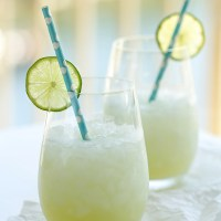 Rum Cucumber Coolers made with a yummy ginger lime simple syrup and fresh cucumber juice.