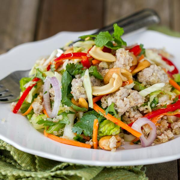 Thai Pork Quinoa Salad - light, fresh, healthy & delicious!