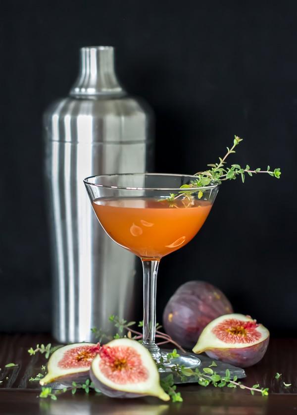 Whiskey Fig Martini