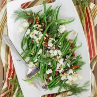 Greek Green Beans with Kalamata Olives, Feta Cheese, Sun Dried Tomatoes