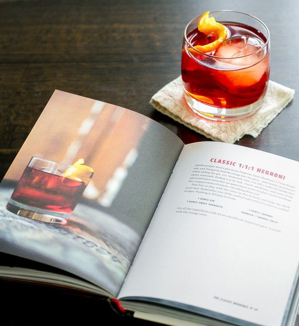 The classic Negroni cocktail