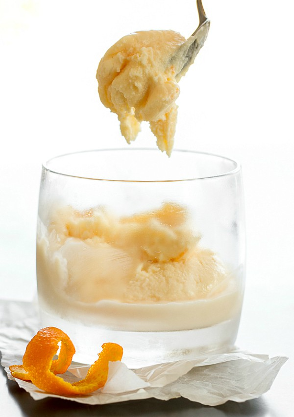 Negroni Ice Cream with a hint of orange and negroni flavors of gin, sweet vermouth and Campari. Sweet, creamy and delicious!