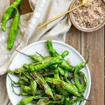 Blistered Shishito Peppers with Smoked Sea Salt