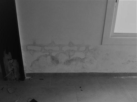Humedad por capilaridad en las paredes