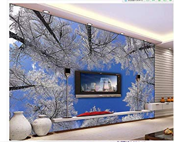 Papel tapiz arboles con nieve