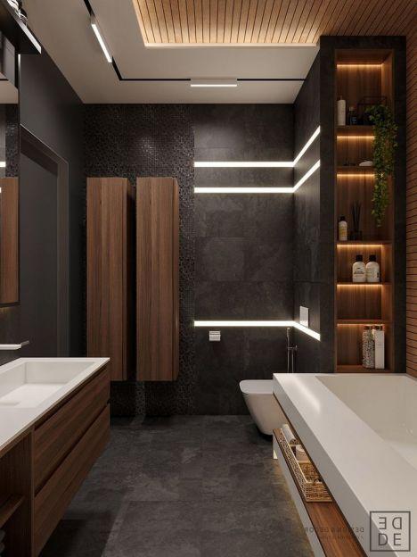 iluminación suave baño